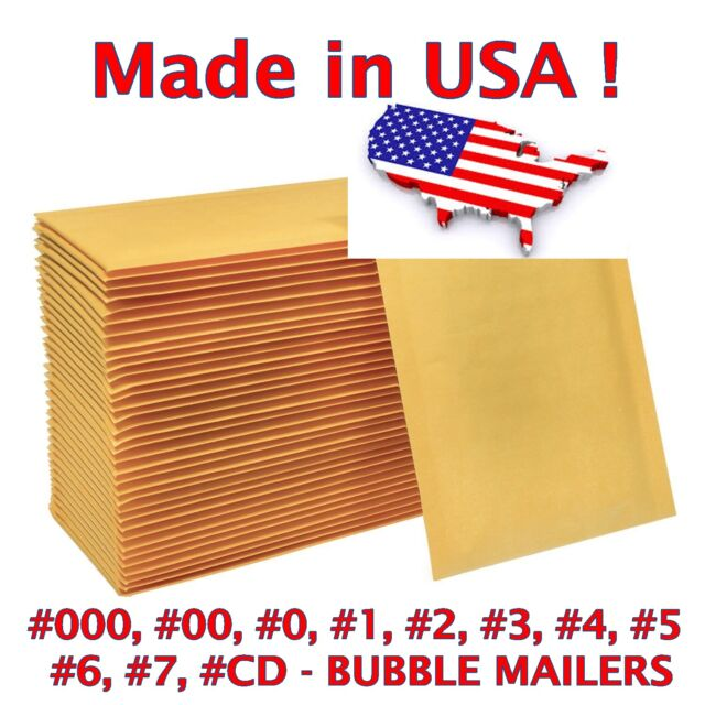 PolycyberUSA  100 pcs #1 Poly Bubble Envelopes Mailers 7.25 X 12 Inner 7.25x11