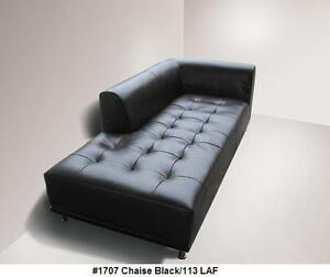 Details about 1 Piece Modern elegant design Leather Sofa or Chaise in black  leather #1707