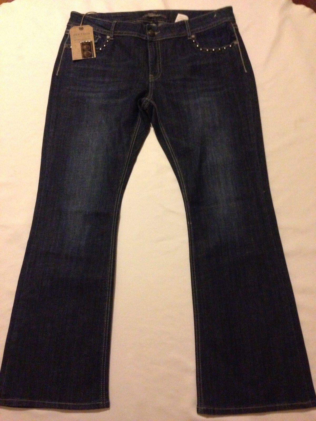 Nwt Stetson Hollywood Boot cut bluee jeans Women's size 22R (waist 40 inseam 32.5