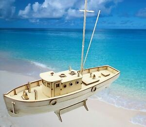 Sailing Boat Model DIY Wooden Kit Ship Building Educational Assembly 1/30 Scale