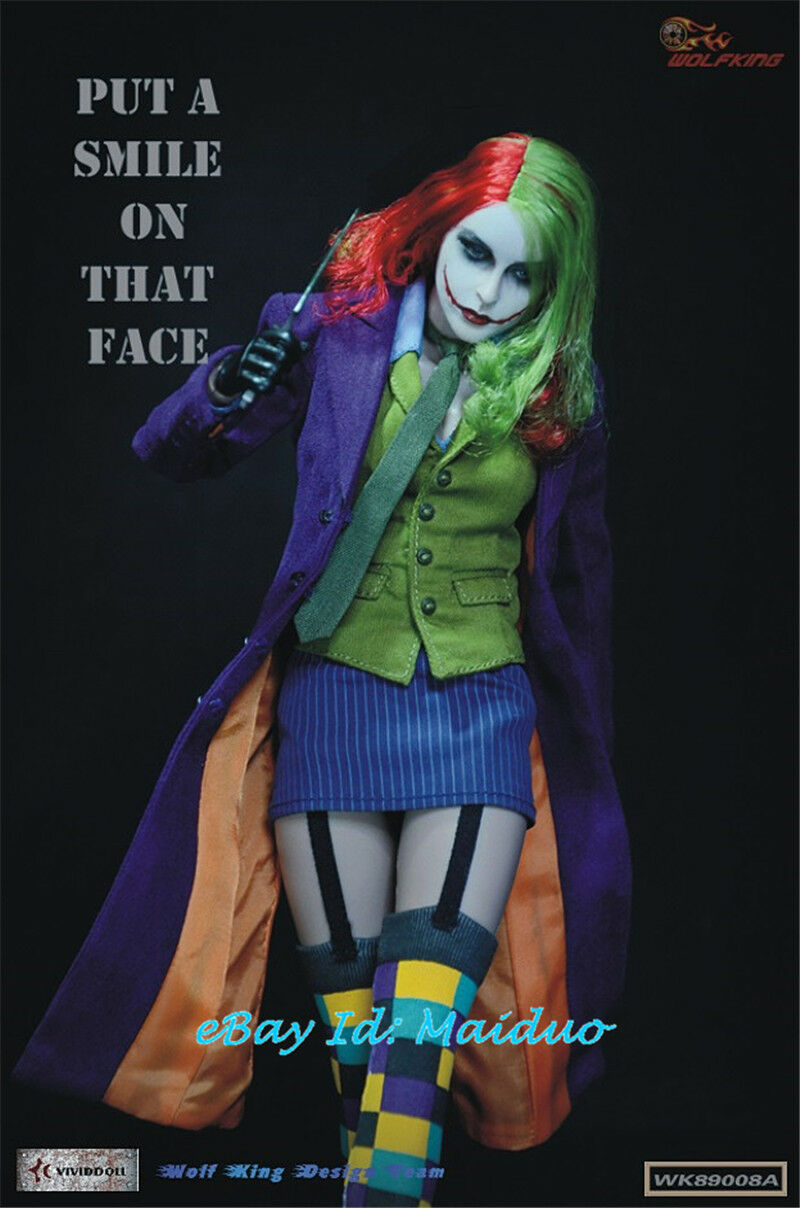 WOLFKING 1 6 Female Female Female Joker Action Figure WK89008A Batman Collectible Toys Gifts ba41e6
