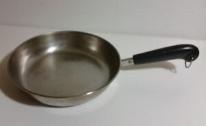 Vintage Revere Ware 1801 Stainless Frying Pan Cooking