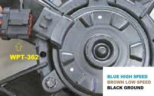 "FORD TAURUS FAN PLUG Motorcraft WPT-362 //////  PIGTAIL 8/"" LINCOLN MARK 8 VIII"