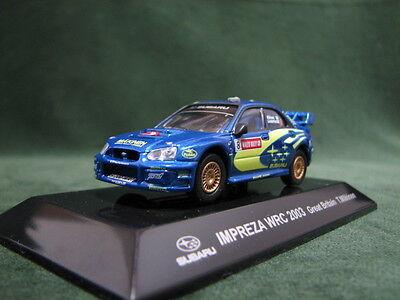 SUBARU IMPREZA WRC 2003 Great Britain Rally 1:64 CM's Rally Car Collection Japan