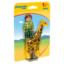 PLAYMOBIL 123 Zookeeper With Giraffe Building Set 9380 Learning Toys
