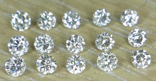 1.8 mm 0.39cts 15pc I claridad J Color Natural suelto diamante corte brillante redondo