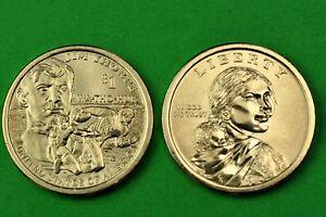 US One Dollars Native American//Sacagawea 2013- P/&D BU Mint State 2 Coins