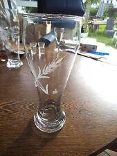 Weizenglas mit Gravur zweier Ähren und Sparkassen-S