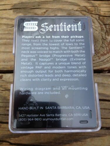Seymour Duncan Sentient 6 String Neck Humbucker Pickup BLACK NEW