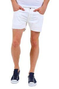 Pantaloni-Corti-Jeans-Uomo-Shorts-ABSOLUT-JOY-A962-Bianco-Tg-S-M-L-XL