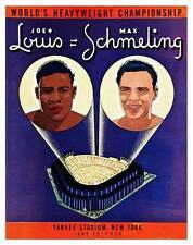 Joe Louis vs Max Schmeling *LARGE POSTER* 1938 Boxing Heavyweight Championship