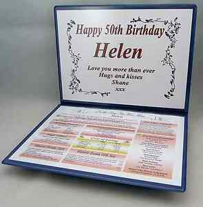 THE DAY YOU WERE BORN KEEPSAKE AGS-Designs SPECIAL 70TH BIRTHDAY GIFT