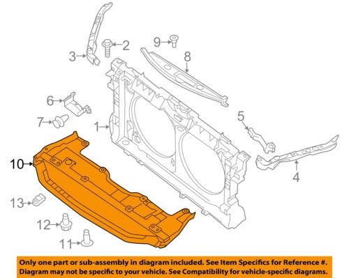NISSAN OEM 13-15 Altima Splash Shield-Under Engine Radiator Cover 758903TA0A