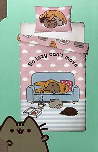 Pusheen The Cat Bettwäsche Katze Faultier 135x200 Decke Kissen