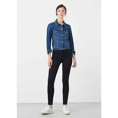 Ladies Ex Mango Black Soho Womens Jeggings Skinny Jeans