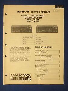 onkyo tx 904 tx 906 receiver service manual original factory issue rh ebay com sg onkyo tx nr906 specs onkyo tx-906 manual pdf