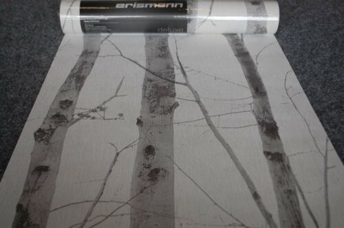 Nappes Papier Peint 6305-10 Erismann Papier Peint Rayures arbre gris blanc 630510 Ah