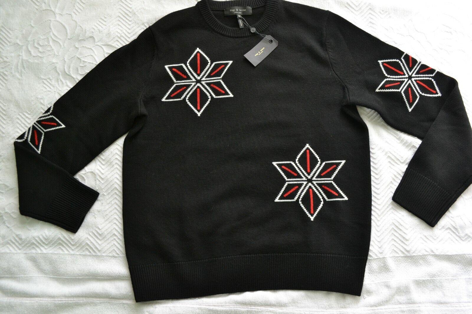 Rag & Bone Merino Wool Snowflake Sweater Size L Brand new