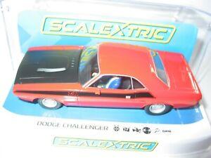 Scalextric-C4065-Dodge-Challenger-Rojo-Negro-Nuevo-Y-En-Caja-compuesta