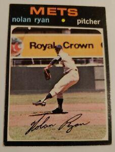 1971 Topps Nolan Ryan Baseball Card #513 EX New York Mets