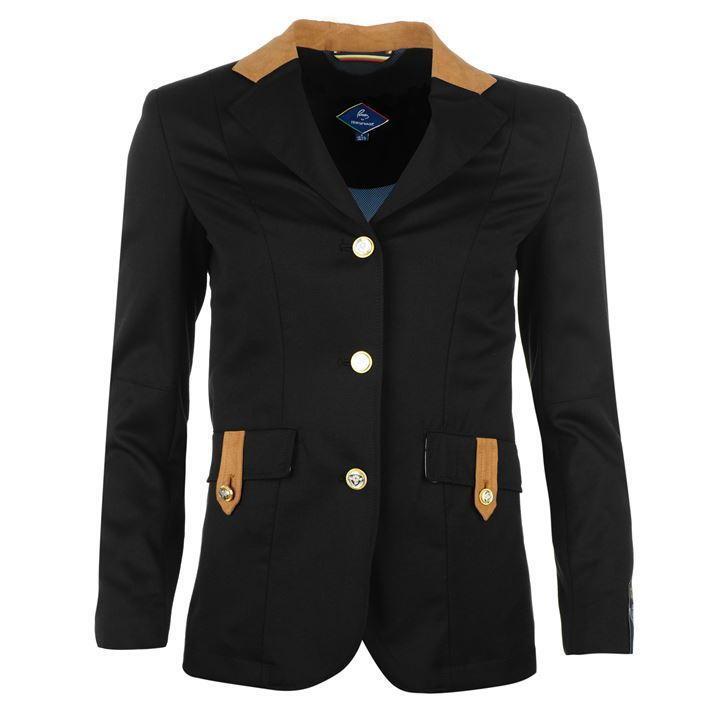 Pessoa Alcantra Negro montando chaqueta para mujer RRP
