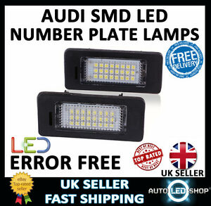 audi a4 b8 smd led number plate lamps upgrade light bulbs xenonimage is loading audi a4 b8 smd led number plate lamps