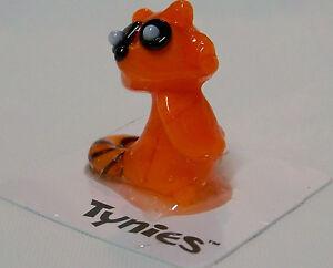 Rara racoon orange TYNIES Tiny Glass Figure Figurine Collectibles 0132 NEW