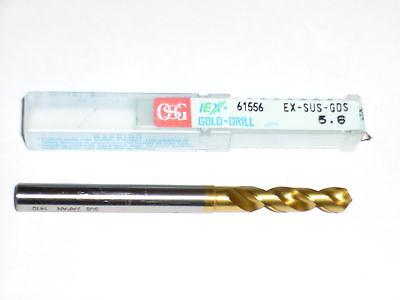 OSG EX-SUS-GOLD TIN COATED VANADIUM 5.6MM DRILL 61556
