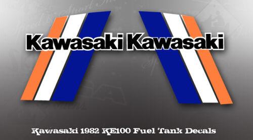 KAWASAKI 1982 KE100 FUEL TANK DECAL LIKE NOS OEM GRAPHICS