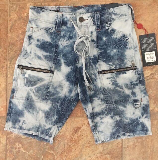 37ff5c15 True Religion Trail Utility Mens Cargo Shorts Size 28 Blue NWT New $169  #100414