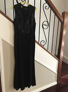 ALEX-PERRY-LADIES-BLACK-SEQUIN-FORMAL-LONG-DRESS-SIZE-14-GREAT-CONDITION