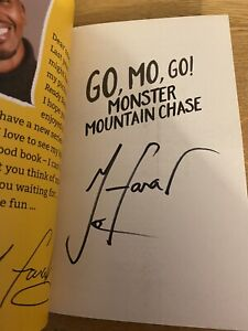 MO FARAH HAND SIGNED AUTOGRAPH MONSTER MOUNTAIN CHASE PAPERBACK BOOK UK OLYMPIAN