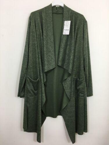 New Ladies Italian Long Jacket Waterfall Cardigan Women/'s Bolero Coat Lagenlook