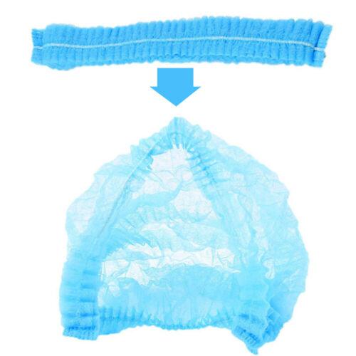 Details about  /US 100 Pcs Disposable Bouffant Elastic Hair Restraint  Non-Woven Surgical Caps