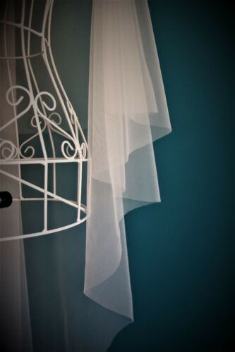 2 Tier Wedding Veil *Chapel Length*Drop Veil*Wide Corded Lace*Made to measure*