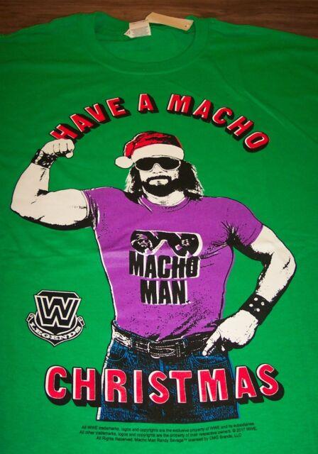 Wwf Wwe Macho Man Randy Savage Christmas T Shirt Xl Wrestling