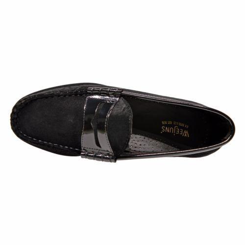 Mens Weejuns G.H Velvet shoes Penny Loafer 70-60424 Larson Black Bass Leather