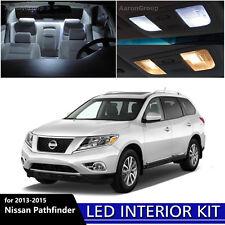 12PCS White Interior LED Light Package Kit for 2013 - 2015 Nissan Pathfinder