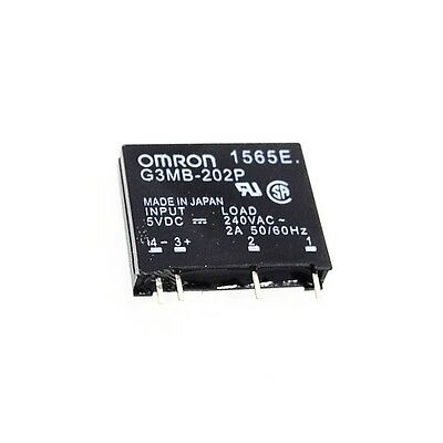 10PCS G3MB-202P DC-AC PCB SSR In 5V DC Out 240V AC 2A Solid State Relay Module