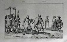 ITALIA= DUELLI  TRA CAVALIERI SPADA E SCUDO  = LAMAITRE.LAZIO.Artaud.1835.