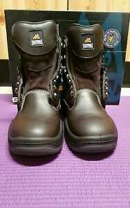 SIZE-7-5-SIZE-8-5-US-BROWN-LEATHER-MONGREL-BOOT-MOTORCYCLE-Brand-New-in-BOX