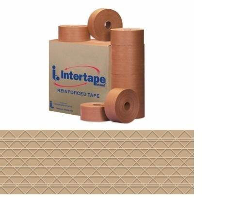 10//Case 3 x 450 Kraft Tape Logic #7700 Reinforced Water Activated Tape