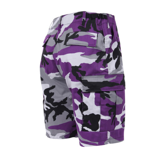 Purple Camo CARGO SHORTS Violet Ravens Vikings Lakers Wildcats Tigers TCU LSU