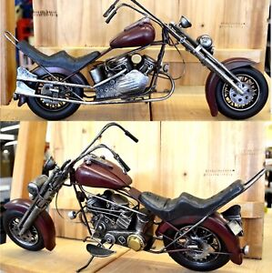 Bike-Chopper-XXL-49-cm-lang-Motorrad-Blechmodell-Deko-Dekoration-Modell-NEU