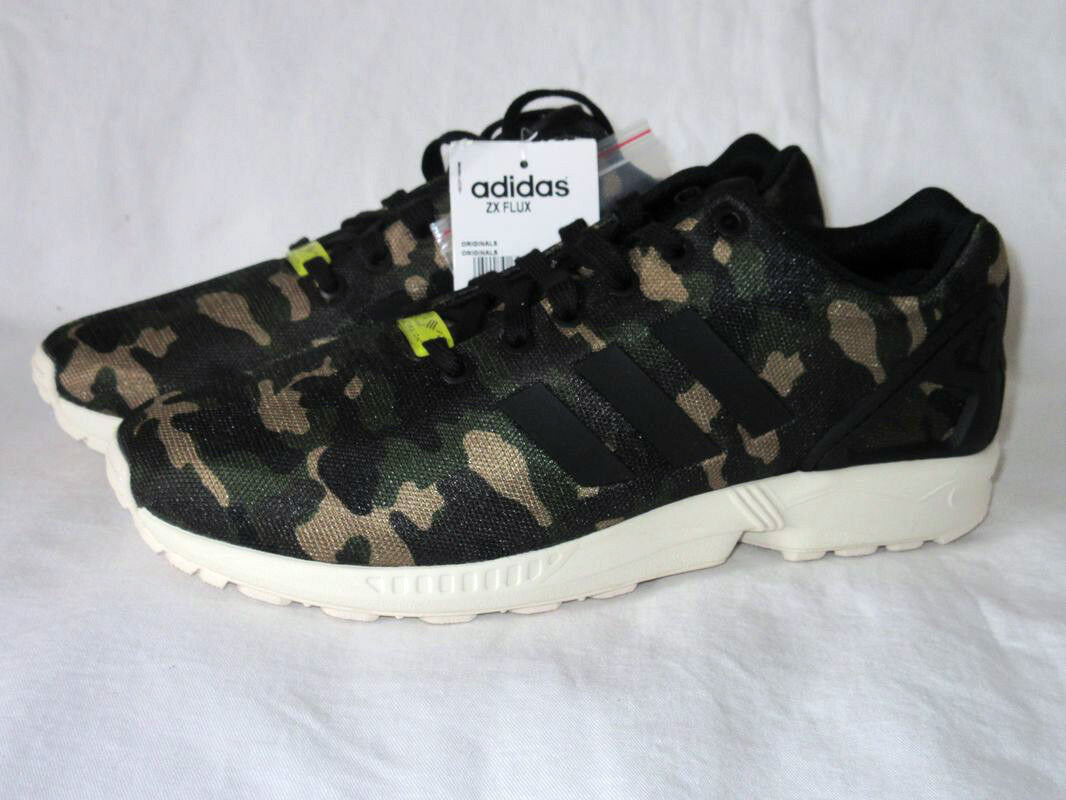 NEUADIDAS FLUX CAMO RADICAL ZX TORSION CAMOUFLAGE EQUIPMENTARMEEGR 43 1 2NEW