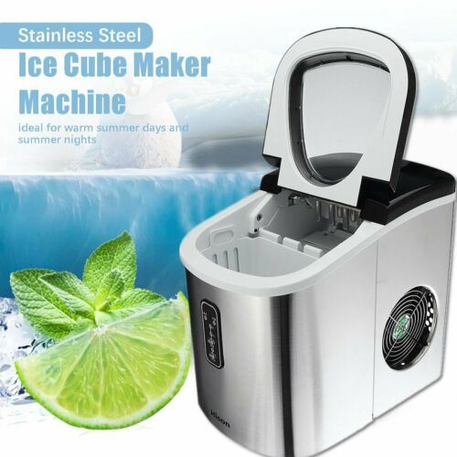 15KG Professional Electric Ice Cube Maker Machine Counter Top Fast UK!