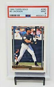1992-Topps-GOLD-Royals-White-Sox-Star-BO-JACKSON-Baseball-Card-PSA-9-MINT