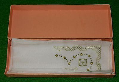 2 Taschentücher Bestickt Durchbrucharbeit Uralt 1920