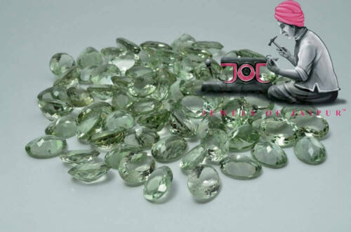 Details about  /Wholesale Lot 7x5mm Oval Cut Natural Green Amethyst Loose Calibrated Gemstone