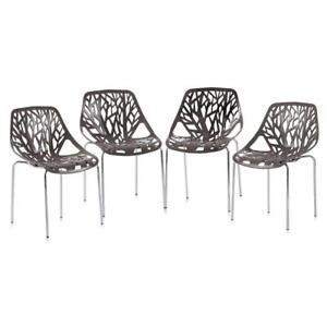 Sedie Polipropilene Design.Dettagli Su Set 4 Sedie Polipropilene Sedia Design Stile Calligaris Cucina Ristorante Grigio